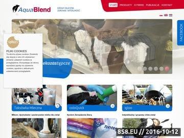 Zrzut strony Aquablend Polska - premiks dla bydła