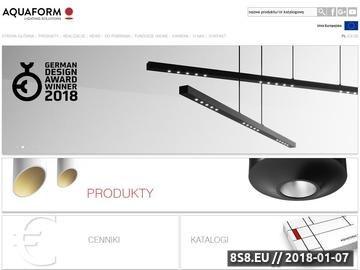 Zrzut strony Aquaform.pl - producent oświetlenia