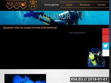 Zrzut strony Usługi nurkowe Aquamor