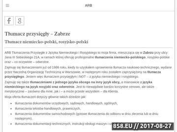 Zrzut strony Tłumacz przysięgły - ARB biuro tłumacza przysięgłego