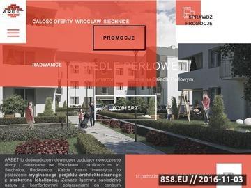 Zrzut strony Mieszkania na sprzedaż od Arbet Deweloper Siechnice