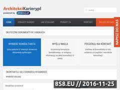 Miniaturka domeny www.architekcikariery.pl