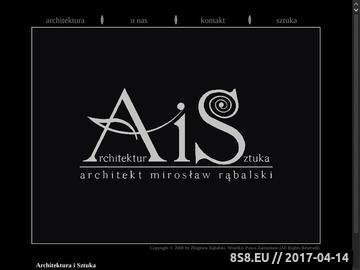 Zrzut strony Architektura i Sztuka - architekt Mirosław Rąbalski