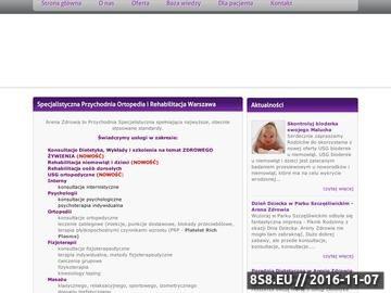 Zrzut strony Rehabilitacja Warszawa - Arena Zdrowia