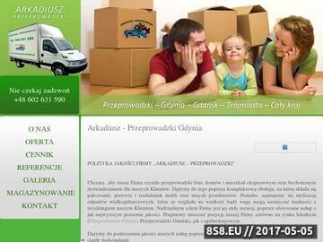 Zrzut strony Arkadiusz - Przeprowadzki Bagażowka Gdynia Gdańsk