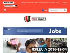Thumbnail of Army Calling - Join Indian Army Website
