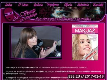 Zrzut strony Szkolenia z makijażu i wizażu