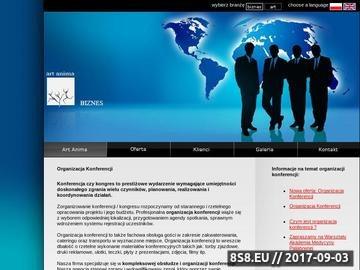 Zrzut strony Organizacja Konferencji - ArtAnima Biznes