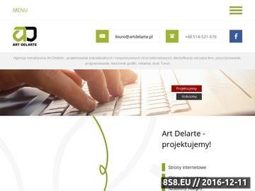 Zrzut strony Strony internetowe - Art Delarte Toruń