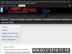 Miniaturka Tworzenie stron internetowych, gadżety reklamowe (www.artkros.pl)