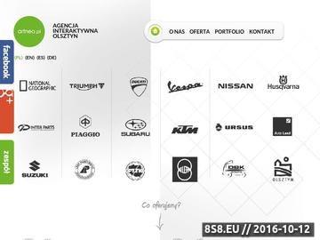 Zrzut strony Strony internetowe Olsztyn