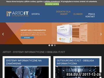 Zrzut strony ArtoIT - tworzenie stron WWW