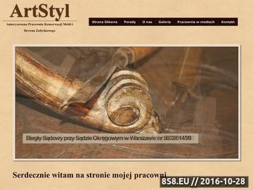 Zrzut strony Meble renowacja Warszawa