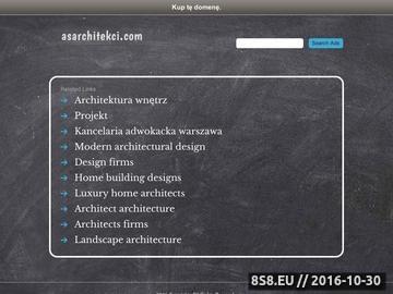 Zrzut strony Biuro architektoniczne