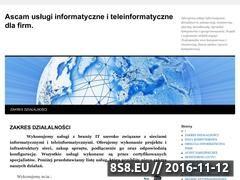 Miniaturka Ascam - Sieci komputerowe i monitoring (www.ascam.pl)