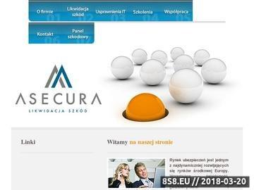 Zrzut strony ASECURA likwidacja szkód