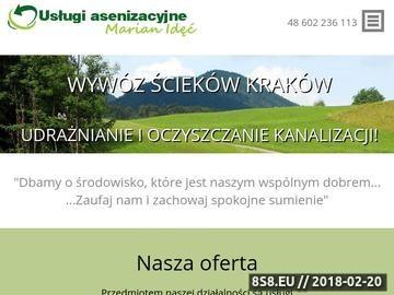 Zrzut strony Usługi asenizacyjne Kraków Marian Idęć