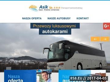 Zrzut strony Firma przewozowa Asik