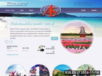 Zrzut strony BIuro podróży AS biura podróży szczecin