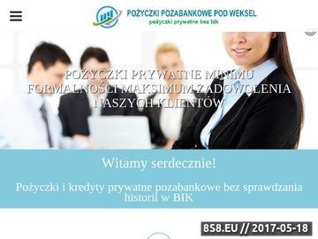 Zrzut strony Pożyczki prywatne