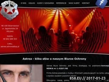 Zrzut strony Astrea - Biuro Ochrony
