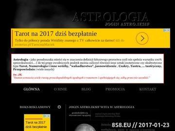 Zrzut strony Astrolog Ast.ql wróżba czary
