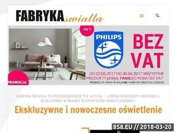 Zrzut strony Salon oświetlenia w Poznaniu