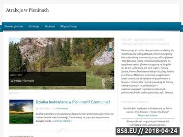 Zrzut strony Atrakcje turystyczne w Pieninach