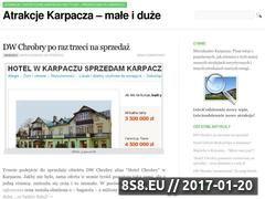 Miniaturka domeny www.atrakcjekarpacza.pl