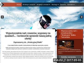 Zrzut strony Wypożyczalnia nart i snowboardów Zebra w miejscowości Białka Tatrzańska