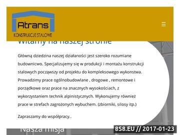 Zrzut strony Prace grogowe - ATrans