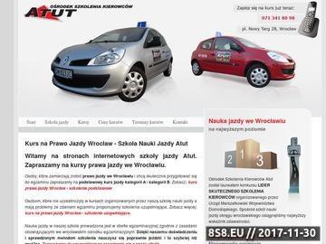 Zrzut strony Szkoła jazdy Wrocław