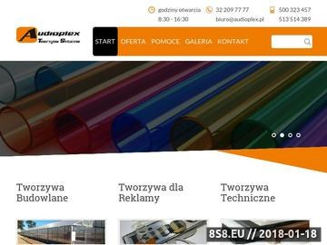 Zrzut strony Plexi, Tekstolit, Poliwęglan, Kurtyny pasowe PCV, Poliamidy - Audioplex.pl
