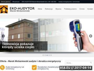 Zrzut strony Certyfikat energetyczny