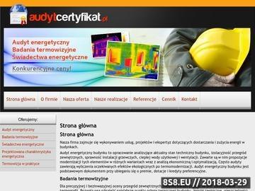 Zrzut strony Audyt energetyczny Warszawa