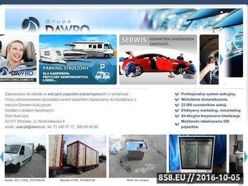 Zrzut strony Aukcje komornicze samochodów - Dom Aukcyjny Dawro