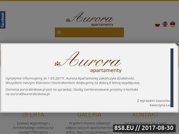Zrzut strony Aurora - noclegi Kraków centrum