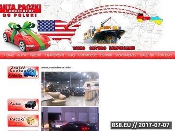 Zrzut strony Auta i paczki z USA do Polski