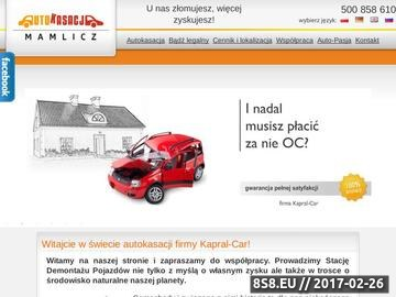 Zrzut strony Kasacja pojazdów - autokasacja