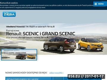 Zrzut strony Salon samochodów nowych oraz używanych, serwis, warsztat