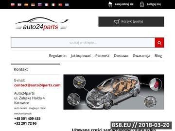 Zrzut strony Używane części samochodowe