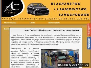 Zrzut strony Autocentral malowanie samochodów