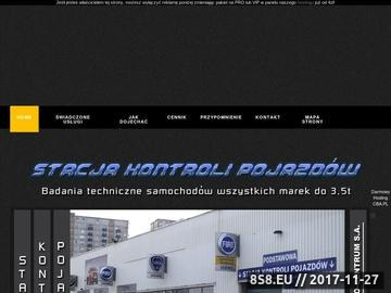Zrzut strony Stacja Kontroli Pojazdów - AUTO-CENTRUM SA Poznań