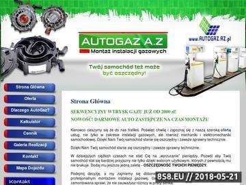 Zrzut strony Autogaz A.Z