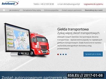 Zrzut strony AutoGuard - zarządzanie flotą, monitoring GPS i systemy GPS
