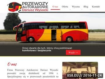 Zrzut strony Transport osób Warszawa