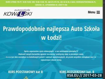 Zrzut strony Autoszkoła Kowalski