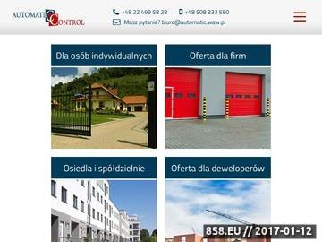 Zrzut strony AUTOMATIC CONTROL - Bramy garażowe i ogrodzeniowe, napędy i automaty