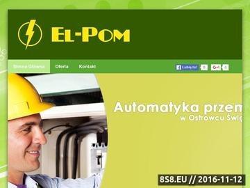 Zrzut strony EL-POM automatyka przemysłowa