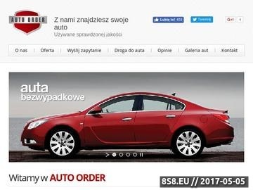 Zrzut strony Auto Order